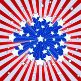 American starburst background. An American starburst cool background Stock Photography