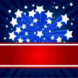 American starburst background. An American starburst background with place for text Stock Photography