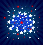 American starburst background. An American stile starburst background Royalty Free Stock Photo
