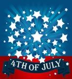 American starburst background Royalty Free Stock Image