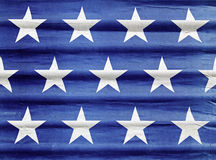 American stars. Detail of an American flag on a city street Stock Images