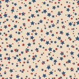 American stars seamless pattern. American patriotic stars seamless pattern in vintage colors. Independence day vector background Stock Photo