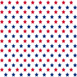 American stars seamless pattern. American patriotic stars seamless pattern in bright red, blue and white Stock Image