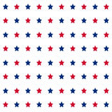 American stars seamless pattern. American patriotic stars seamless pattern in bright red, blue and white Royalty Free Stock Images