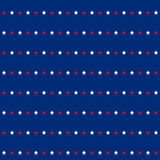 American stars seamless pattern. American patriotic stars seamless pattern in bright red, blue and white. Independence day vector background Royalty Free Stock Photos