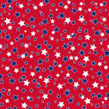 American stars seamless pattern. American patriotic stars seamless pattern in bright red, blue and white. Independence day vector background Royalty Free Stock Images