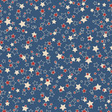 American stars seamless pattern. American patriotic stars seamless pattern in vintage colors Stock Image