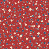American stars seamless pattern. American patriotic stars seamless pattern in vintage colors Stock Photo