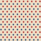 American stars seamless pattern. American patriotic stars seamless pattern in vintage colors Royalty Free Stock Photo