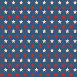 American stars seamless pattern. American patriotic stars seamless pattern in vintage colors. Independence day vector background Royalty Free Stock Photography
