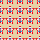 American stars seamless pattern. Striped red, blue, white stars seamless pattern. Vector illustration Stock Photos
