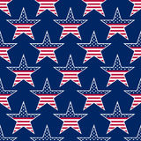 American stars seamless pattern. Vector illustration - eps 8 Royalty Free Stock Image