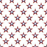 American stars seamless pattern. American stars on white background seamless pattern Royalty Free Stock Photography