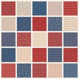 American stars seamless patterns Stock Images