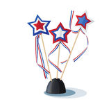 American stars on the stand. Image of American stars on the stand Royalty Free Stock Photos
