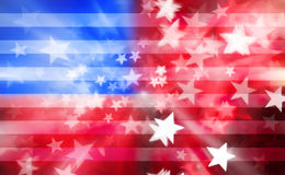 American Stars And Stripes Background. An abstract red white and blue American flag with stars and stripes Stock Photos