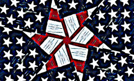 American stars and stripes background Stock Image