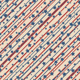 American stars and stripes pattern Royalty Free Stock Photography