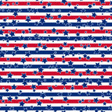 American stars and stripes seamless pattern Royalty Free Stock Photos