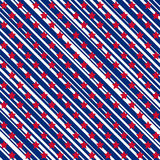 American stars and stripes seamless pattern Stock Images