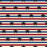 American stars and stripes seamless pattern Vector Stock Photography