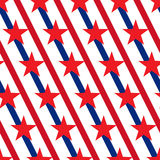 American stars and stripes seamless pattern Vector Royalty Free Stock Photos