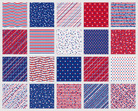 American stars and stripes seamless patterns Royalty Free Stock Photos