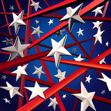 American Stars And Stripes. And United States three dimenaional flag background design element with red white and blue colors celebrating fourth of July and Stock Images