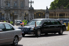 American State Visit. US President Barack Obama leaves Buckingham Palace where he met The Queen during his State visit in May 2011. The President and The first Stock Photography
