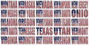 American States From M to W flag words vector illustration