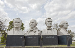 American Statesmanship Park in Houston, Texas stock image