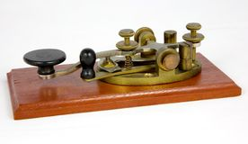 American Steel Lever Morse Key. A vintage American style steel lever Morse key. This key dates from around 1920 stock photos