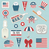 American stickers Stock Photos