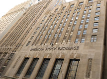American Stock Exchange. The American Stock Exchange (AMEX) in Lower Manhattan New York City Royalty Free Stock Images