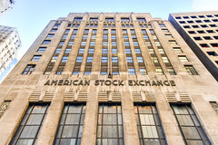 American Stock Exchange Building Stock Image