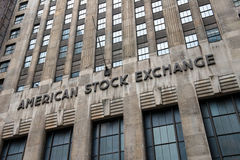 American Stock Exchange, Invest, Investing. American Stock Exchange in New York City. Investors wishing to make money in stocks can invest in shares of a company stock photo