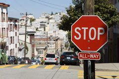 American stop sign Stock Images