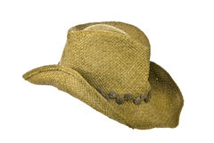 American straw cowboy hat right side Stock Photography