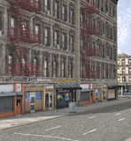Am American Street. 3d render of an American precinct street Royalty Free Stock Photography