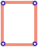 American striped frame with stars. stock photography