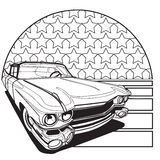 American Style Badge black and white stock illustration
