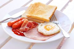 American style breakfast Stock Images