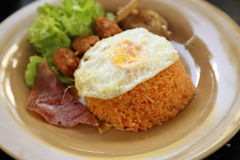 American style breakfast set, fried rice Royalty Free Stock Images