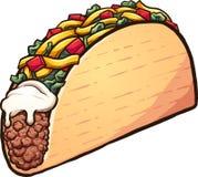 American style cartoon taco royalty free illustration