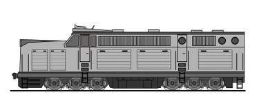 American style diesel locomotive Stock Photo