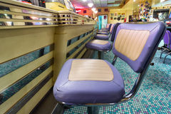 American style diner bar chairs royalty free stock photography