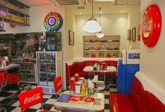American Style Diner in Yokohama, Japan. An American style diner in the port are of Yokohama city, in Japan Stock Image