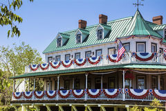 American  Style House Stock Photography
