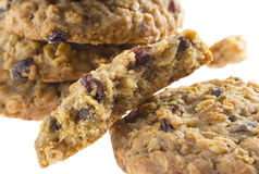 American style oatmeal rising cookies Royalty Free Stock Photos