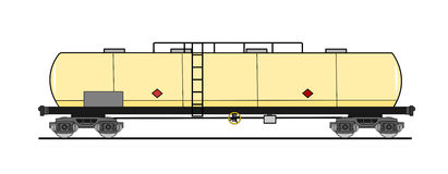 American style tank car. A illustration of tan car royalty free illustration
